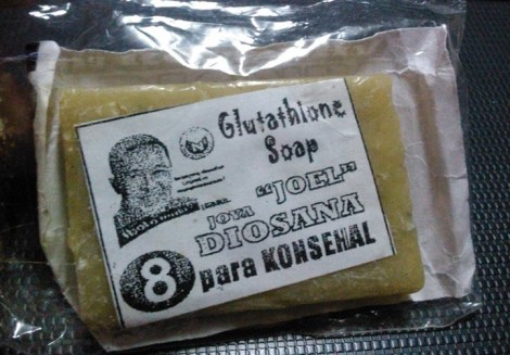 I've been keeping this since last year because I think it's funny. That guy was running for councilor and I'm still thinking 'til now why he chose Glutathione soap as his campaign giveaway.
