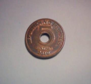 Philippine Five-Centavo Coin