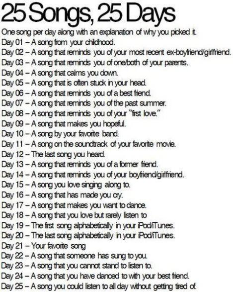 25-songs-blog-challenge